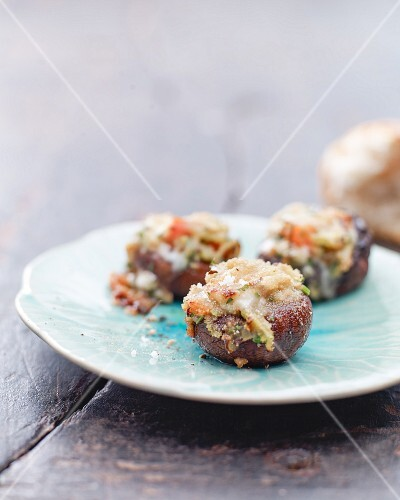 Stuffed grilled mushrooms