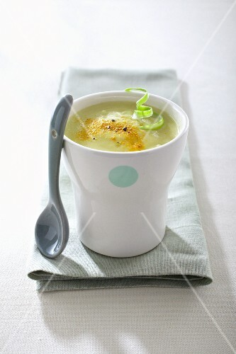 Cream of leek soup for a baby