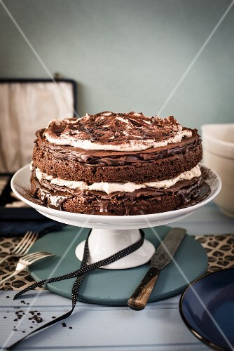 Chocolate and coffee cake