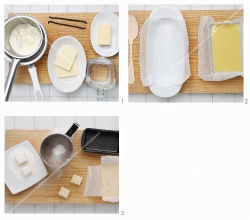 White vanilla truffles being made