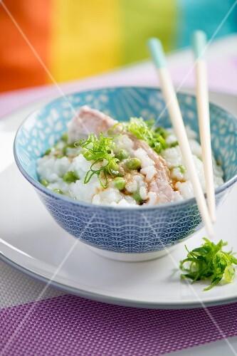 Rice congee with pork ribs (Japan)