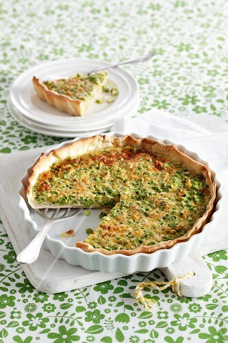 Savoury cheese and onion tart