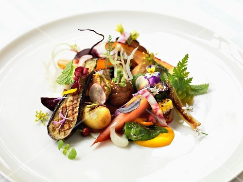 Vegetables with mushrooms and herbs