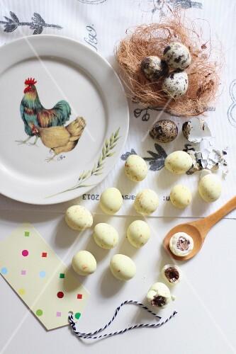 Stuffed quail's eggs for Easter