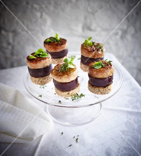 Flönz (Rhineland black pudding) with foie gras