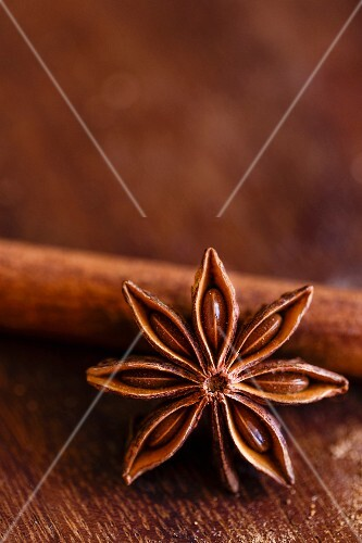 A star anise (close-up)