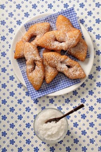 Bugnes (deep-fried pastries, France)