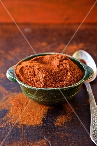 A bowl of chilli powder