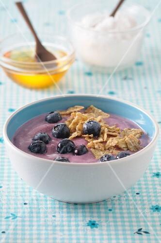 A bowl of blueberry quark