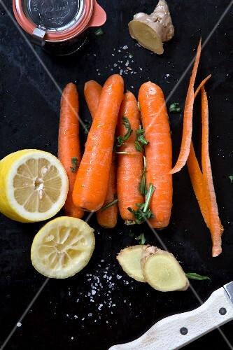 Carrots, ginger and lemons