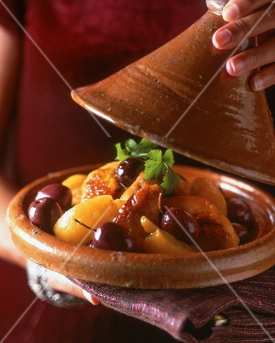 Chicken tagine with salted lemons and olives