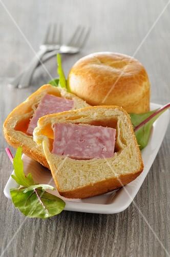 Brioche filled with sausage
