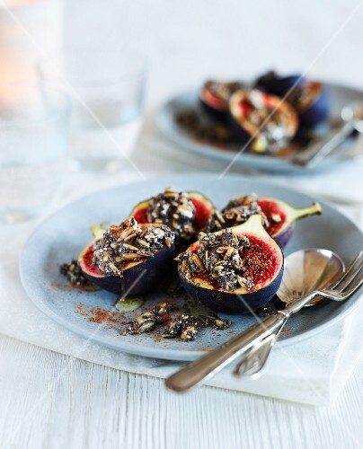 Figs with chia seeds