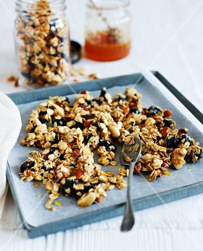 Healthy muesli with nuts
