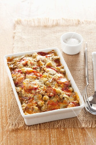 Parmigiana di carciofi (artichoke bake with tomatoes and Palmerston, Italy)