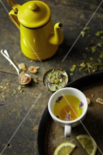 Herb tea with rock sugar