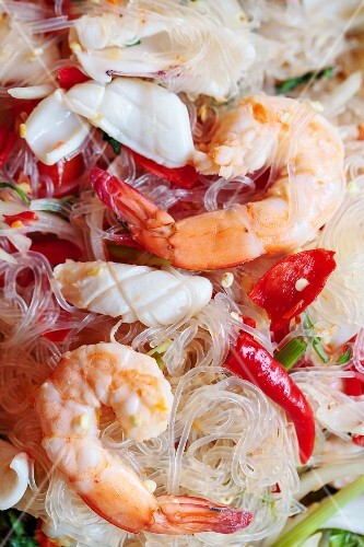 Glass noodle and seafood salad, Thailand