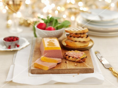 Duck liver parfait with grilled bread for Christmas