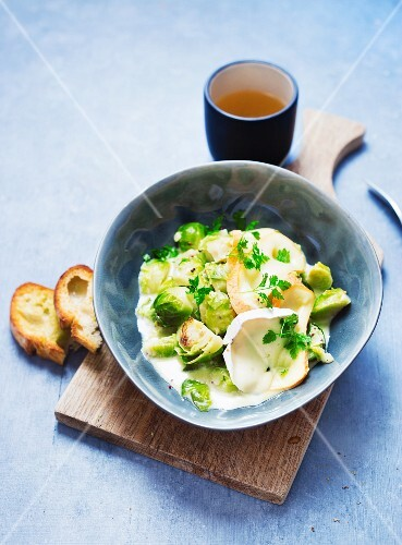 Brussels sprout medley with goat's cheese