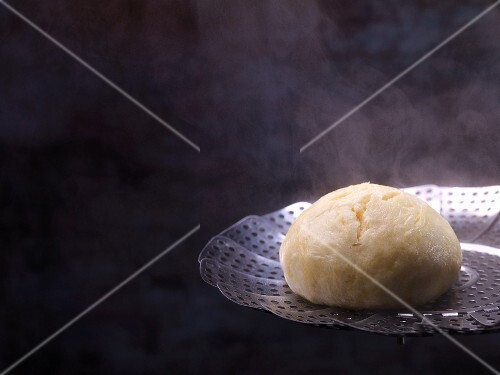 Germknödel (steamed yeast dumpling) being made