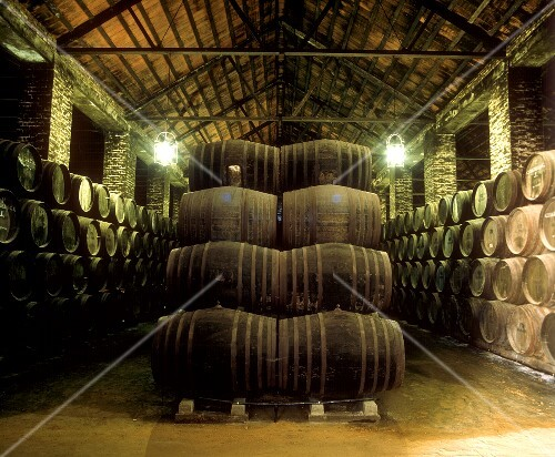 Barrels in the Monumental Alvear Winery, Montilla, Andalusia