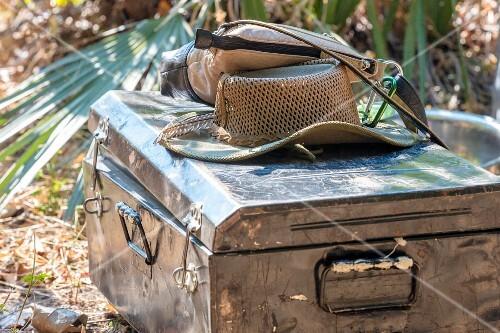 Luggage for a walking safari, Zambia, Africa