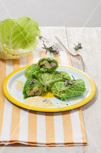 Involtini di verza (Savoy cabbage rolls, Italy)