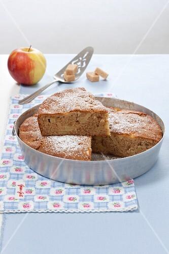 Torta di farro (spelt cake with apples, Italy)