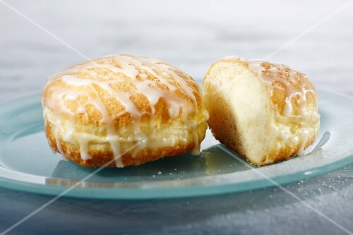 Vanilla doughnuts with icing