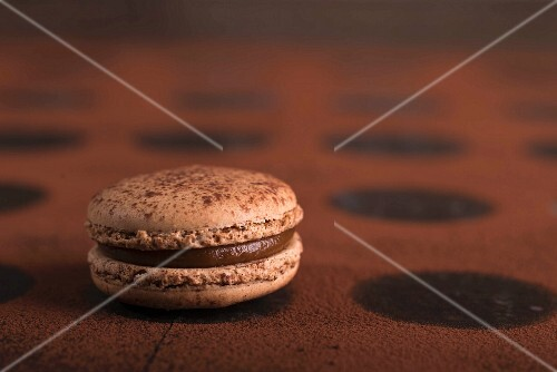 A chocolate macaroon