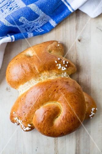 Easter bread with sugar nibs