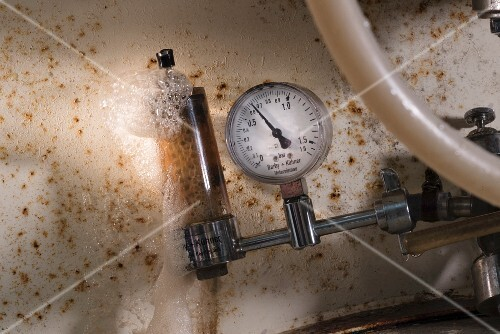 Carbon dioxide being measured in a brewery