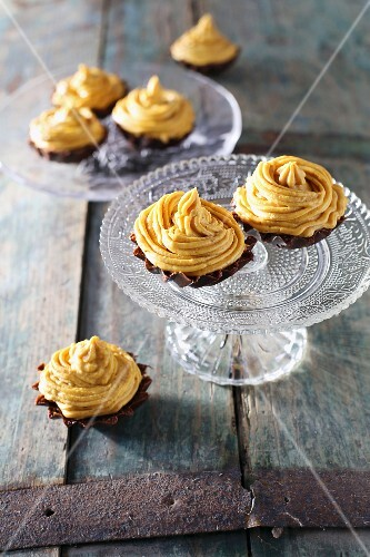 Pumpkin and chocolate cupcakes with chilli