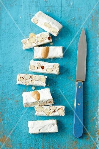 Turron (Spanish nougat) with almonds