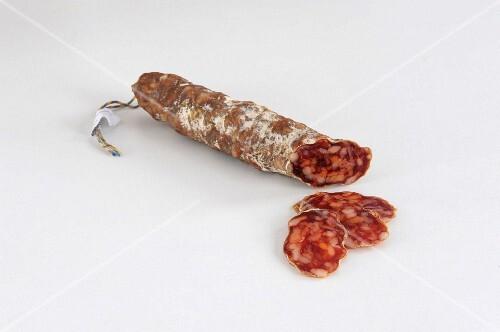 Salami Iberico with chillis