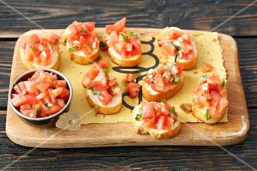 Tomato and mozzarella Bruschettas