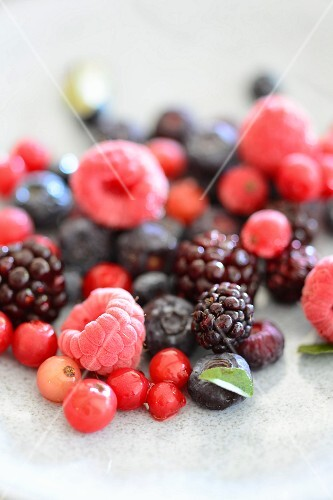 Various types of fresh berries