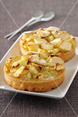Two apple tartlets