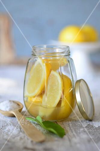 Salted picked lemons