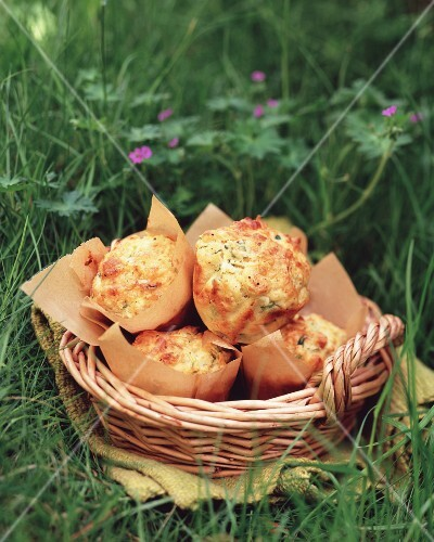 Savoury muffins for a picnic