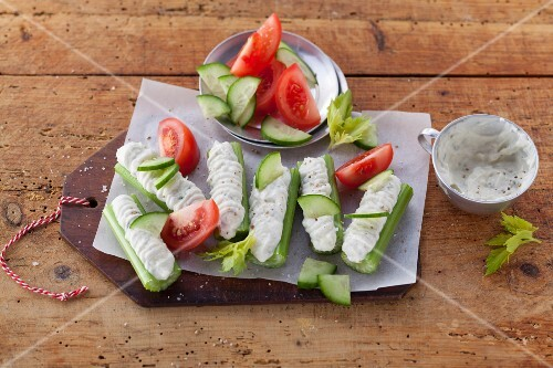 Celery boats with French Roquefort cream (post fasting)