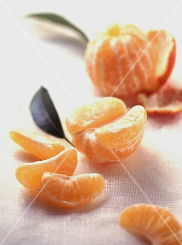 A peeled clementine