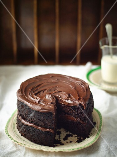 A dark chocolate Guinnes cake for St. Patrick's Day