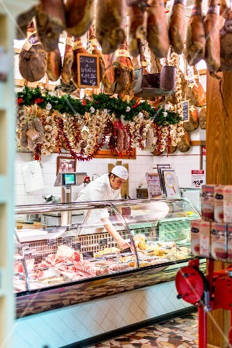 The shop Macelleria Falorni in Greve, Tuscany
