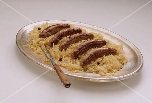 Pork Sausages with Sauerkraut