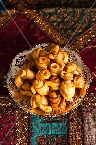Razzat Al Kadi (Sultan's turban, deep-fried pastry from Arabia)