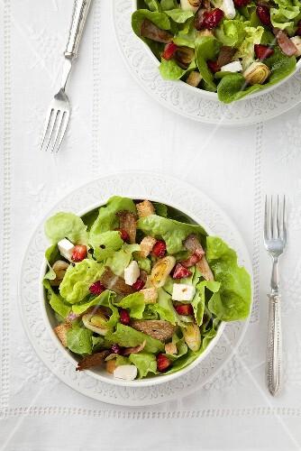 Leek and strawberry salad