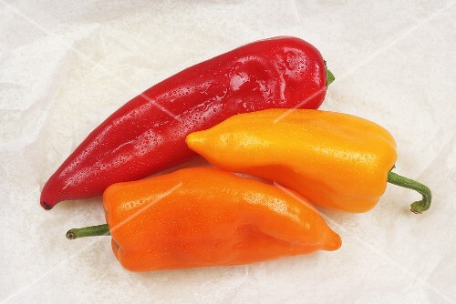 Red and orange pointed peppers