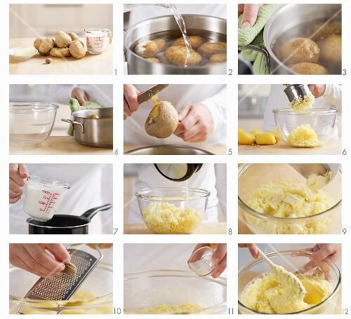 Making mashed potato