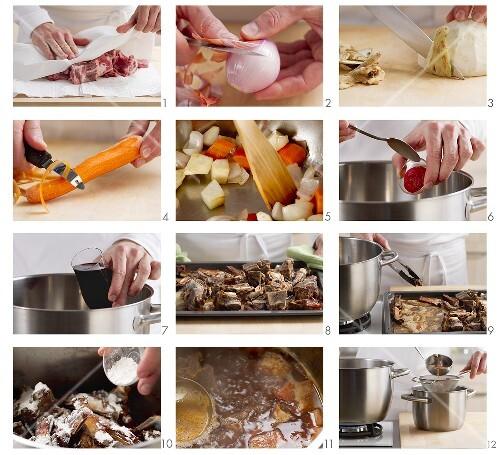 Demi-Glace (braune Grundsauce) zubereiten